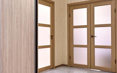 HPL-gestructureerde deur met melkglas